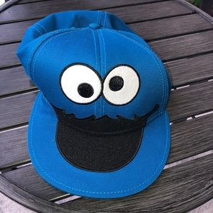 07bc50c3b708 Sesame Street Cookie Monster fitted baseball hat